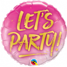 "Let's Party Foil Balloon (18"") 1pc"